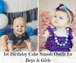 1st Birthday Cake Smash Outfit for Boys & Girls