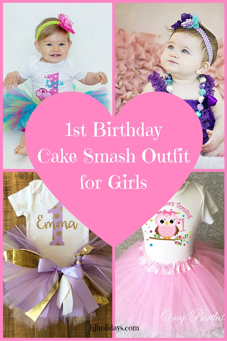 1st Birthday Cake Smash Outfit for Girls