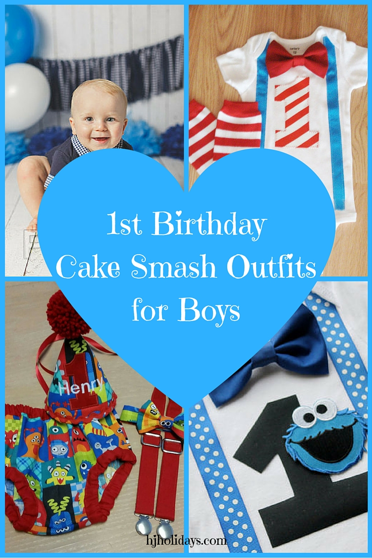 1st Birthday Cake Smash Outfits for Boys
