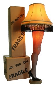 """A Christmas Story Full Size 50"""" Deluxe Leg Lamp"""