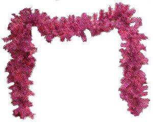 """9' x 10"""" Orchid Pink Cedar Pine Artificial Christmas Garland - Unlit"""