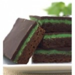 A plate of delicious, chocolate mint brownies