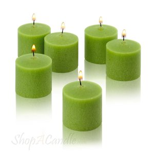10 Hour Lime Green Unscented Votive Candles Set of 12 | Holly Jolly Holidays