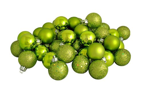 shatterproof lime green christmas ball ornaments - Lime Green Christmas Tree Decorations