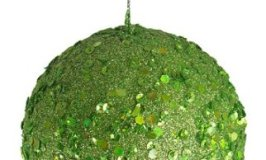 """Club Pack of 24 Lime Holographic Glitter Drenched Christmas Ball Ornaments 3"""" 