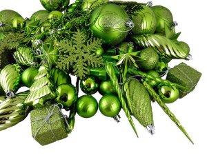 Vickerman 125-Piece Ornament Set, Lime Green | Holly Jolly Holidays