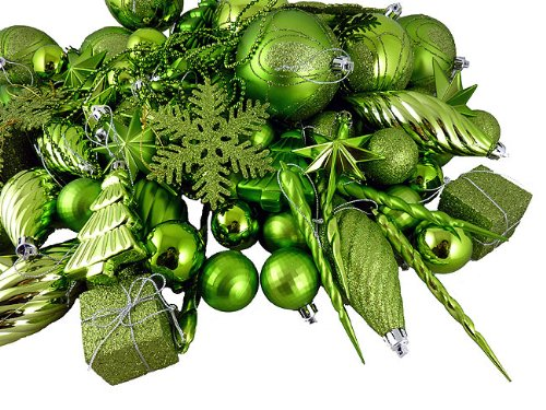 Green Christmas Ornaments and Decorations