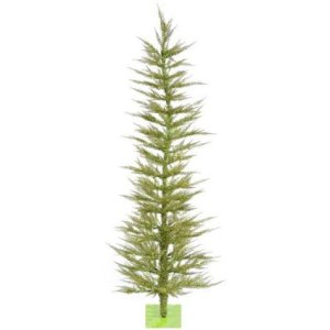 6' Pre-Lit Whimsical Lime Green Artificial Tinsel Christmas Tree - Clear Lights | Holly Jolly Holidays