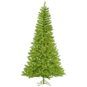 4.5' Pre-Lit Fresh Lime Green Tinsel Artificial Christmas Tree - Lime Green Mini Lights | Holly Jolly Holidays