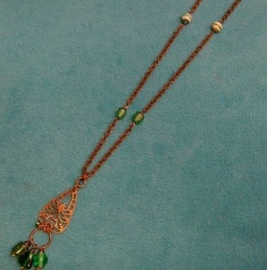 Completed Mother Necklace | Holly Jolly Holidays