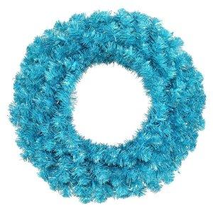 "Vickerman 14753 - 30"" Sky Blue 70 Teal Lights Christmas Wreath"