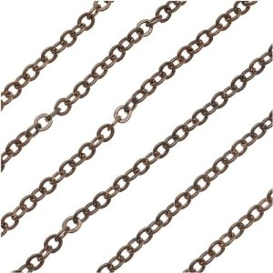 Vintaj Natural Brass 3.5 x 4mm Cable Chain - Bulk By The Foot