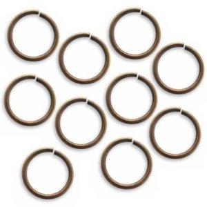 Vintaj Natural Brass Open Jump Rings 15mm Heavy 15 Gauge (10)
