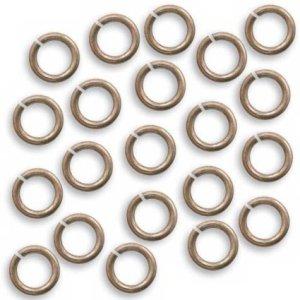 Vintaj Natural Brass Jump Rings 7.25mm Open 16 Gauge (20)
