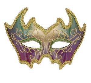 Deluxe Mardi Gras 1/2 Face Mask