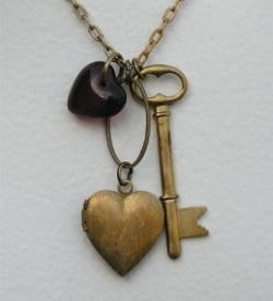 How to Make a One-of-a Kind Found Object Necklace for Valentine's Day