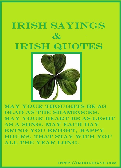 Irish sayings and Irish quotes