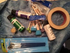 Hand Painted Mardi Gras Wine Glass Tutorial Gathering Supplies