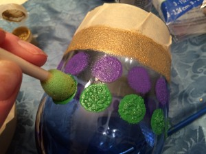 Hand Painted Mardi Gras Wine Glass Tutorial-STEP_FOUR