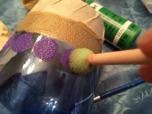 Hand Painted Mardi Gras Wine Glass Tutorial-STEP_THREE