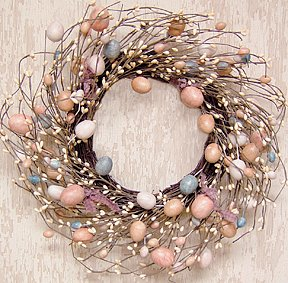 "Wreath Eggs and Pips 16"" Easter Decorations"