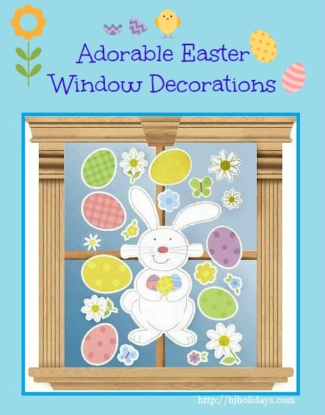 Adorable Easter Window Decorations