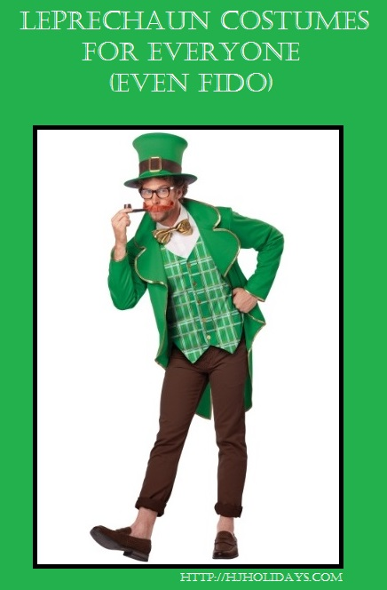 Leprechaun Costumes for Everyone (Even Fido) | http://hjholidays.com