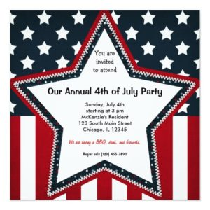 Patriotic Party Invitations