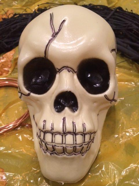 Black Sharpie Outline on Skull