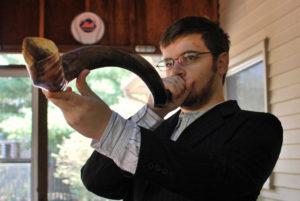 Blowing the shofar on Rosh Hashanah
