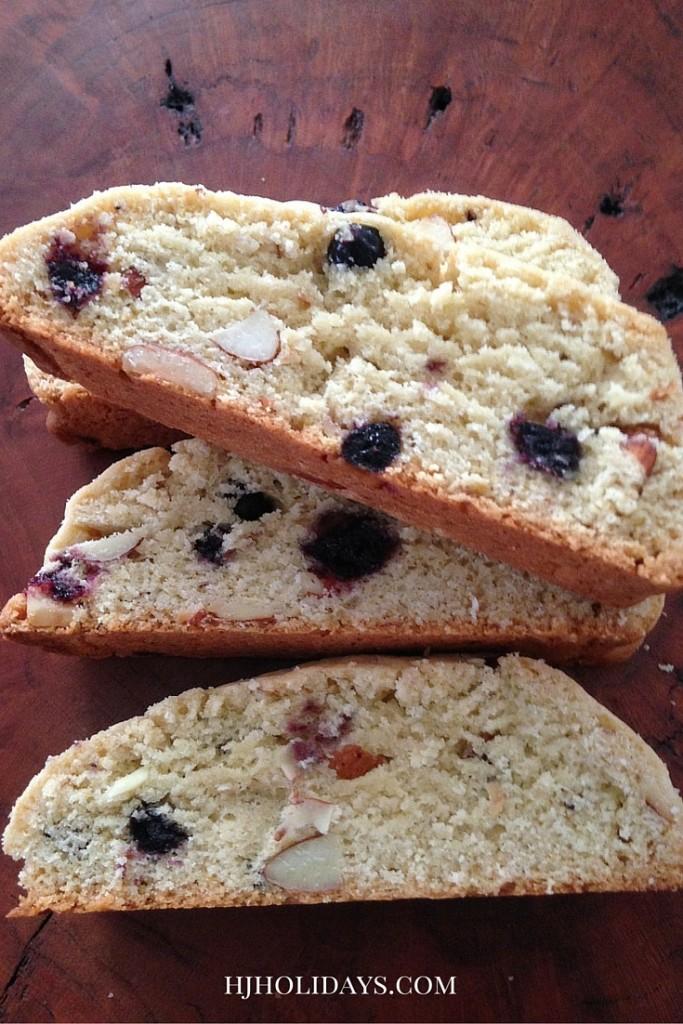 Blueberry Almond Breakfast Biscotti