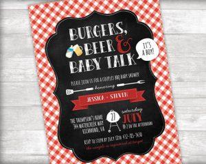 Printable Summer Backyard BBQ Party Invitations