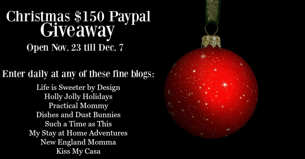 Christmas PayPal Giveaway