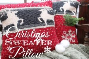 Christmas Sweater Pillow