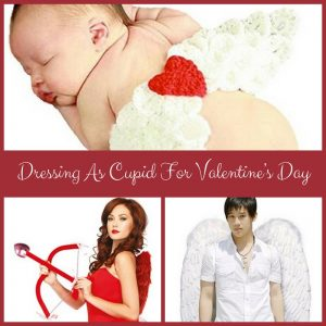 Dressing as Cupid for Valentine's Day