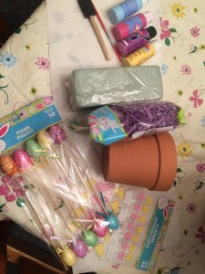 Easter Craft Gather Supplies