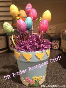 Easter Egg Bouquet Craft Tutorial and Easter Craft Ideas Roundup
