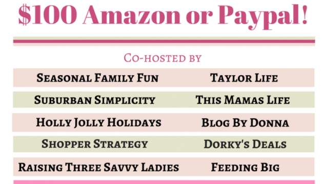 Enter to Win $100 Amazon or PayPal Cash Giveaway