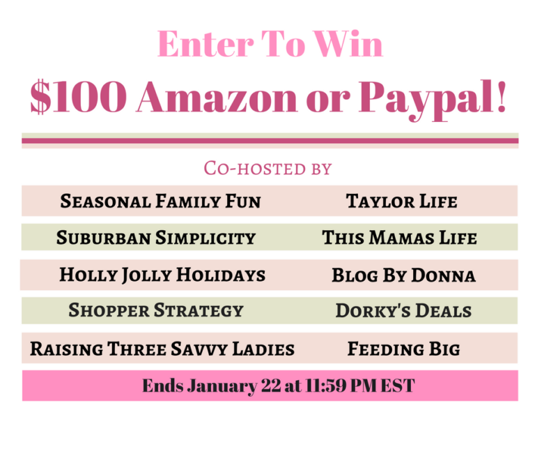 Enter to Win $100 Amazon or PayPal Cash