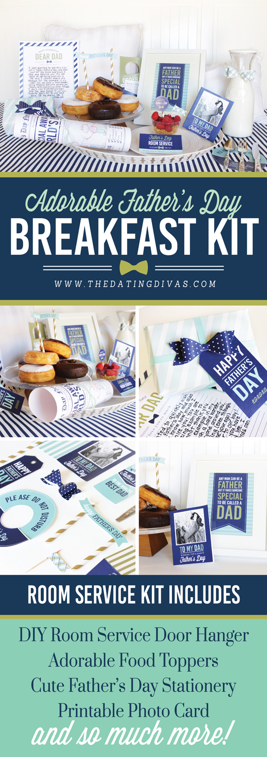 Printable Father's Day Breakfast in Bed Kit