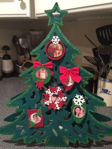 Finished DIY Photo Christmas Tree