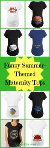 Funny Summer-Themed Maternity Tops