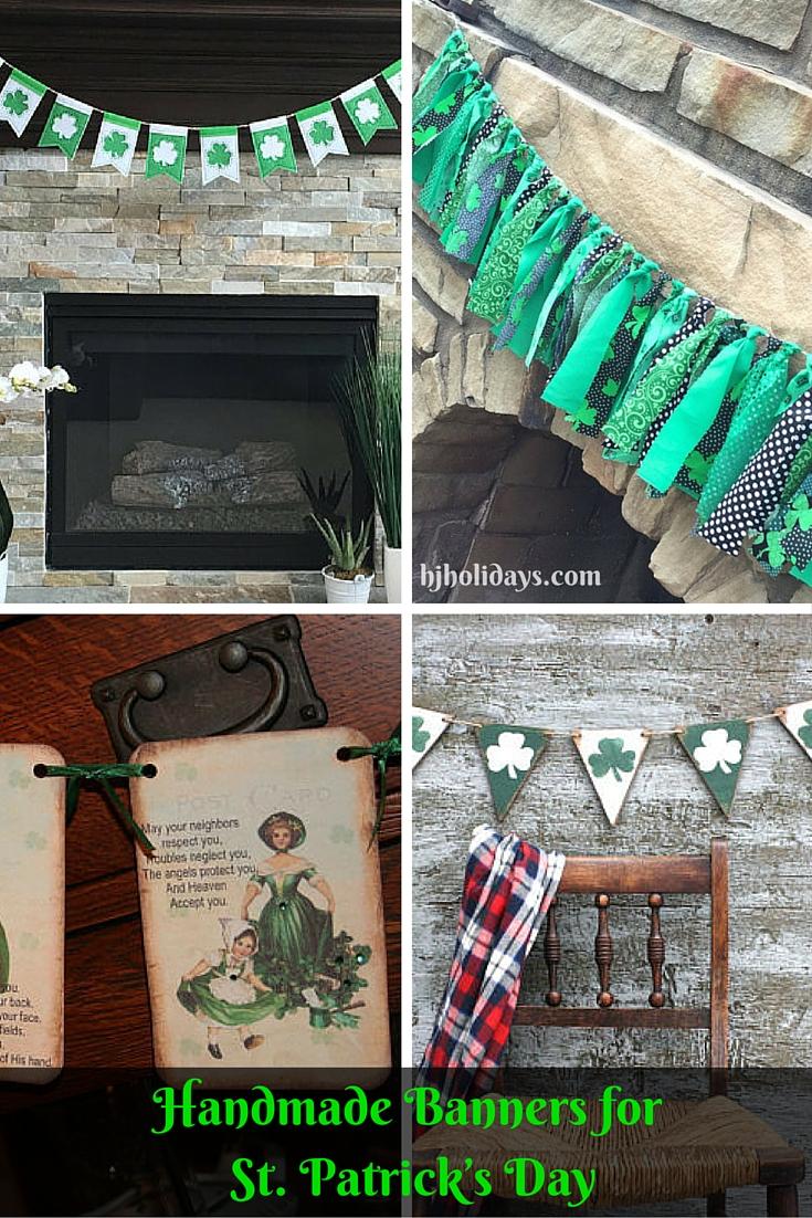 Handmade Banners for St. Patricks Day