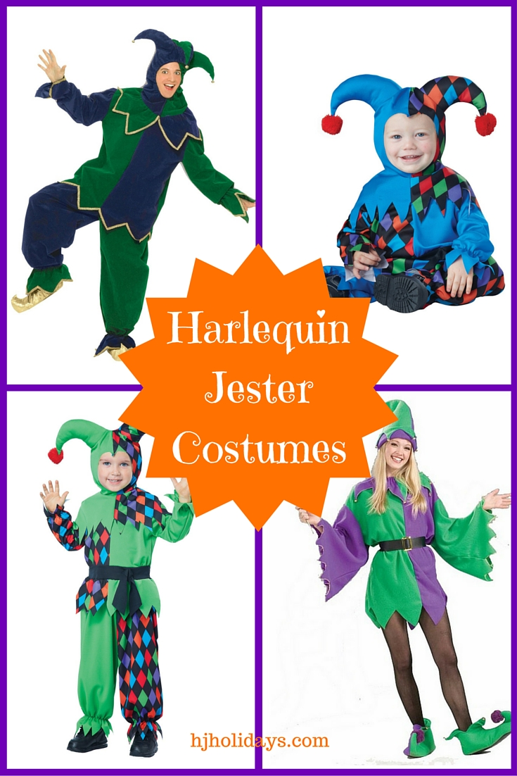 Harlequin Jester Costumes