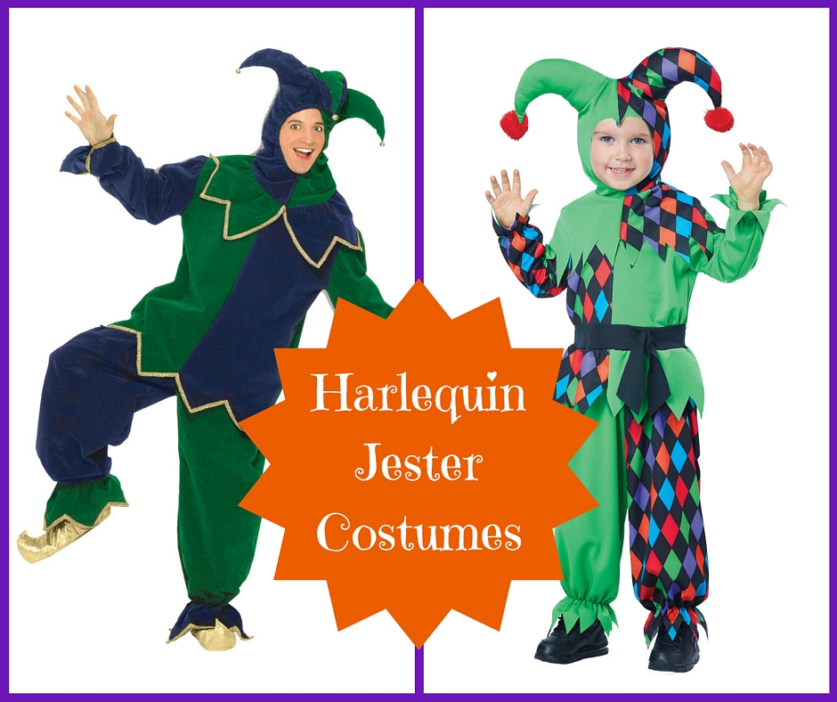 Harlequin Jester Costumes for Mardi Gras