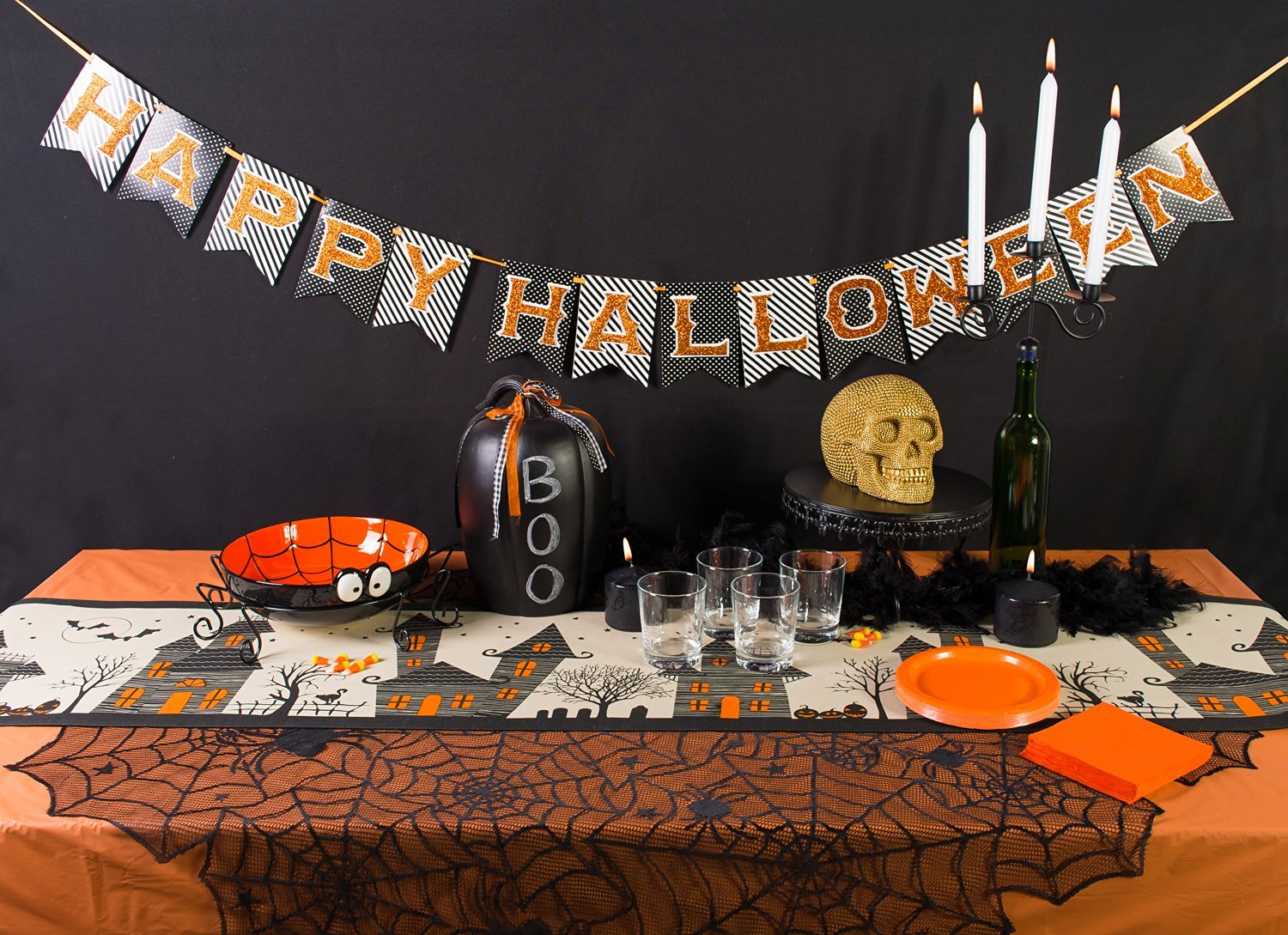 Decorate with Halloween Table Runners