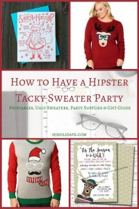How to Have a Hipster Tacky Sweater Party Printables, Ugly Sweaters, Party Supplies & Gift Guide
