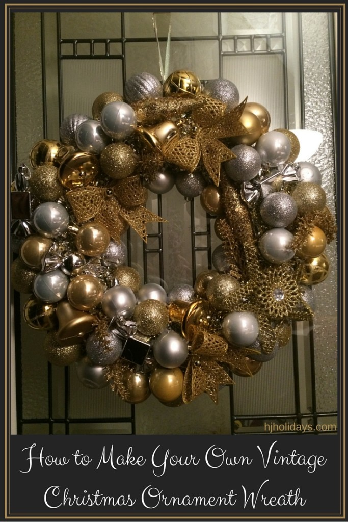 How to Make Your Own Vintage Christmas Ornament Wreath