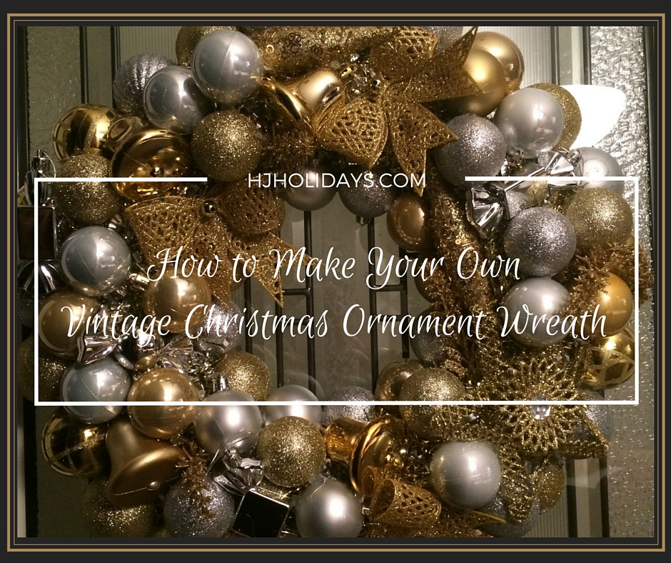 Surprising How To Make Your Own Vintage Christmas Ornament Wreath Easy Diy Christmas Decorations Tissureus