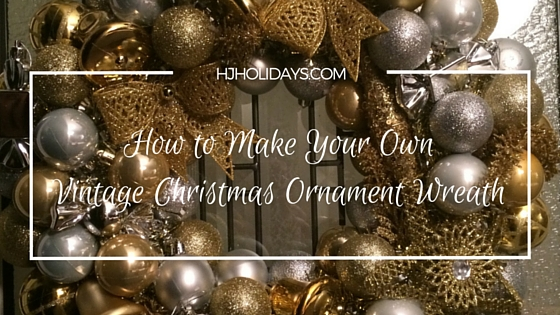 Amazing How To Make Your Own Vintage Christmas Ornament Wreath Easy Diy Christmas Decorations Tissureus